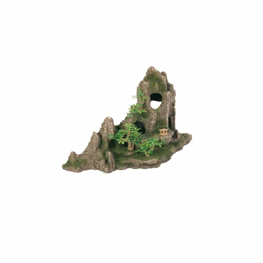 Грот TRIXIE Скала с пещерой с растениями пластиковый 27,5см