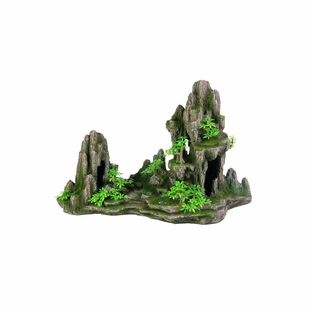 Грот TRIXIE Скала с пещерой с растениями пластиковый 45см