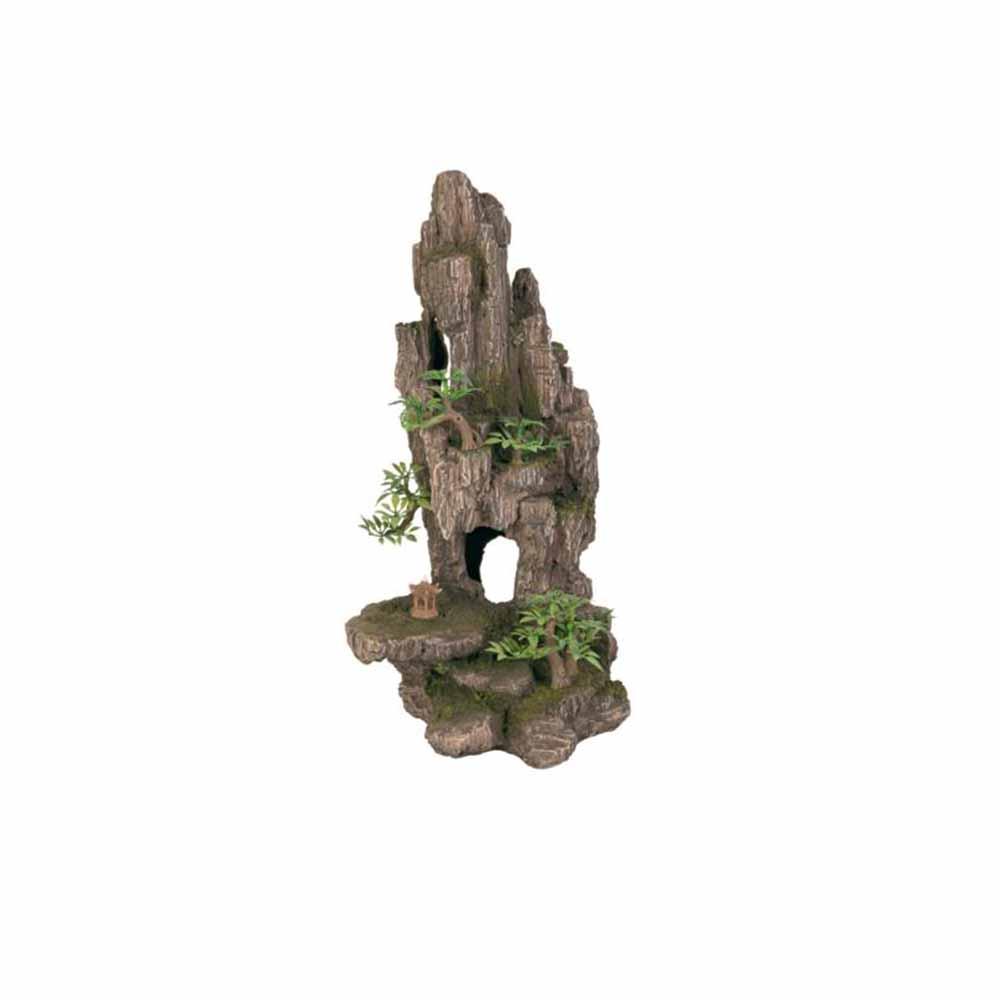 Грот TRIXIE Скала с пещерой с растениями пластиковый 23,5см