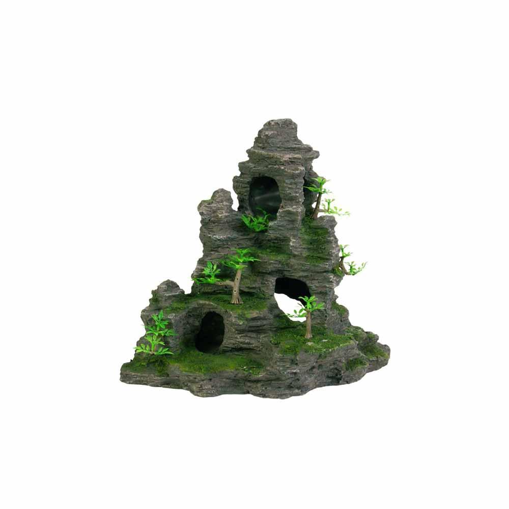 Грот TRIXIE Скала с пещерой с растениями пластиковый 31,5см
