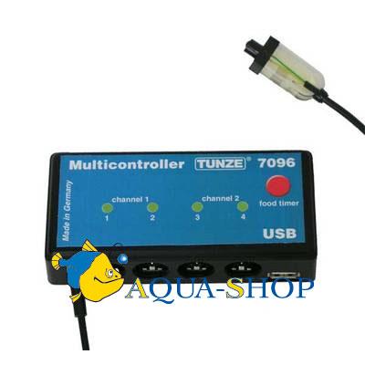 Контроллер TUNZE до 4-х помп, подсветка(новая модель)
