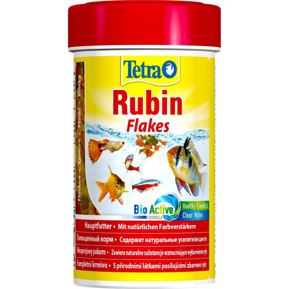Корм для рыб TetraRubin хлопья для окраса  100мл