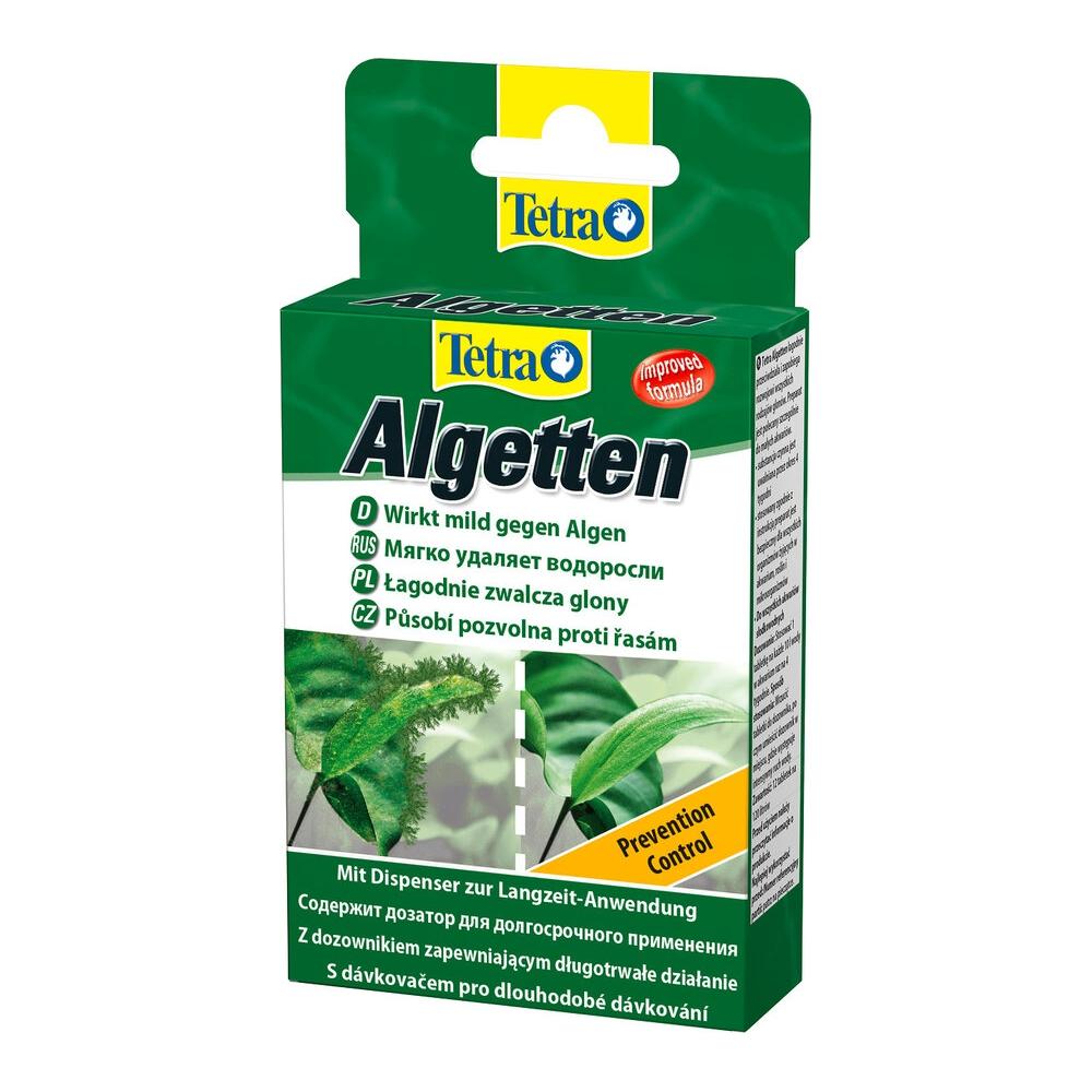 Средство против водорослей Tetra Algetten контроль обрастаний 12табл на 120л.