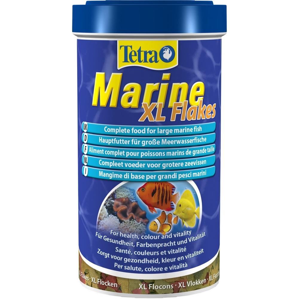 Корм для морских рыб TetraMarin Flakes XL крупные хлопья 500 мл