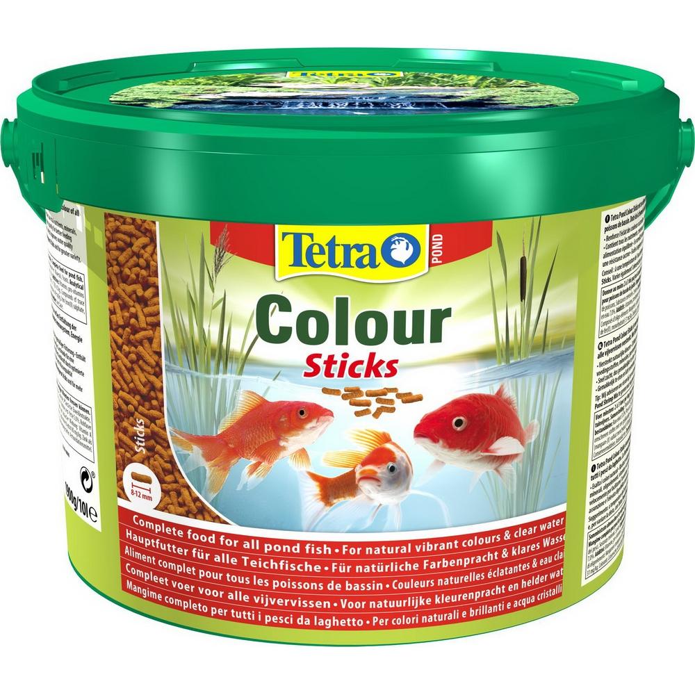 Корм для прудовых рыб TetraPond Color Sticks гранулы  10 л