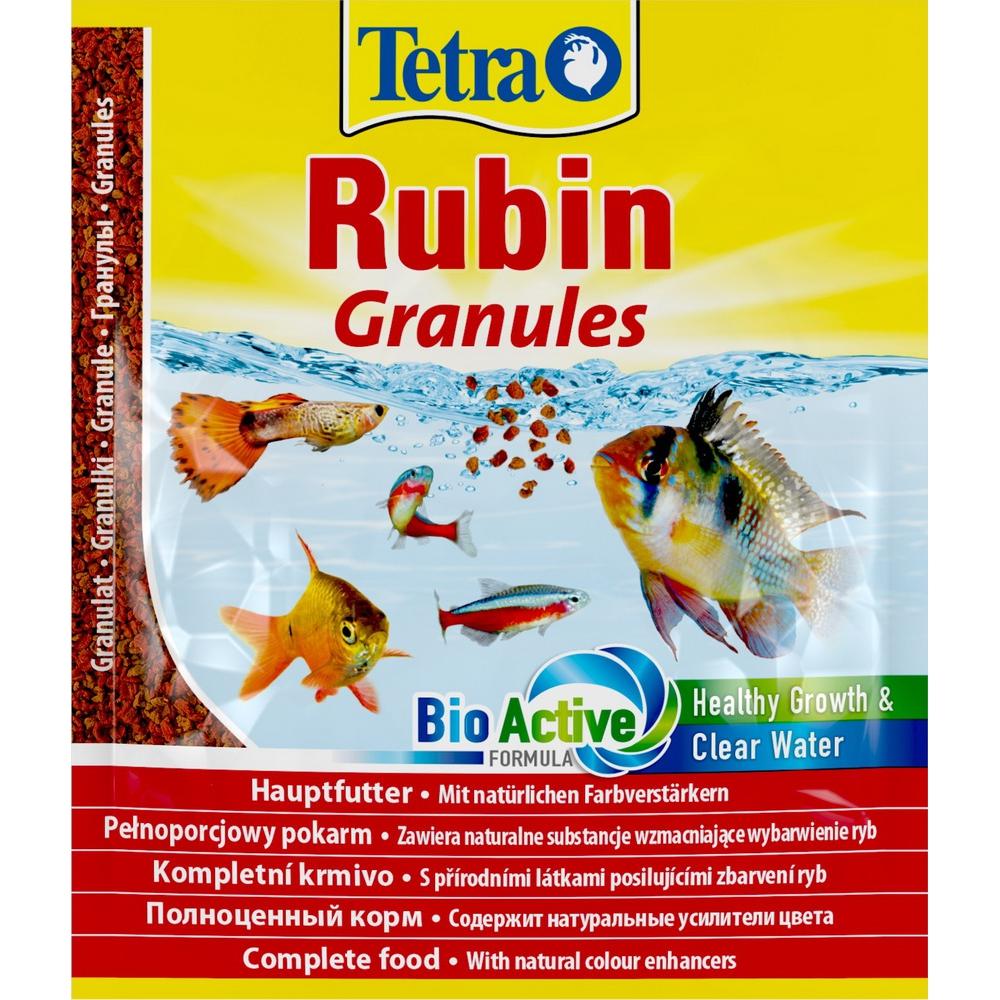 Корм для рыб TetraRubin Granules Sachet гранулы, пакет 15гр