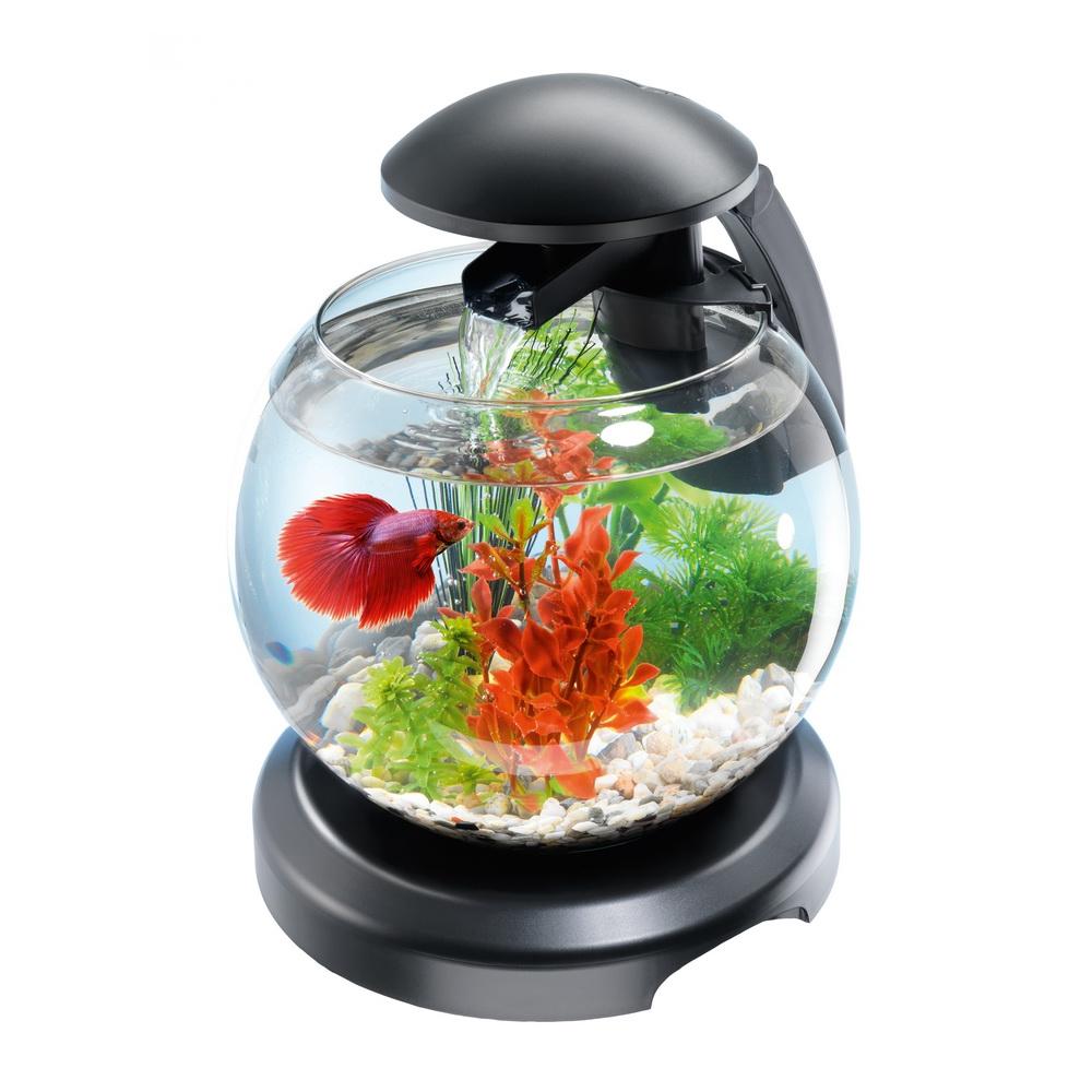 Аквариум Tetra Cascade Globe 6,8л круглый с LED светильником черный