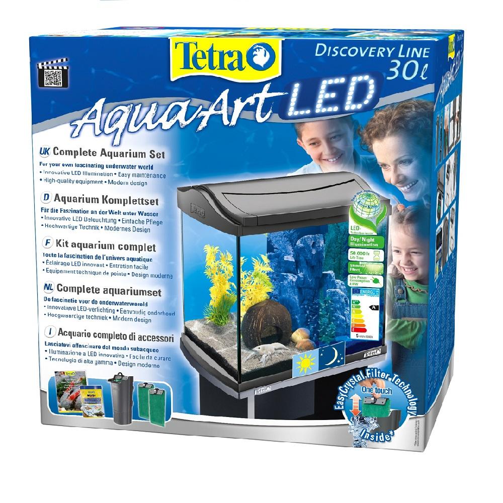 Аквариум Tetra AquaArt Discovery LED Cray 30л черный