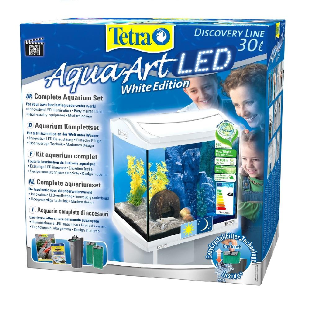Аквариум Tetra AquaArt Discovery LED Cray 30л белый