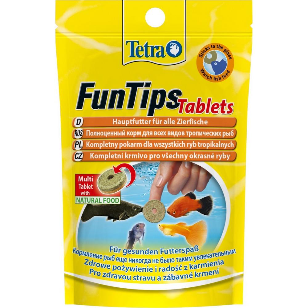 Корм для рыб TETRA FunTips таблетки приклеивающиеся к стеклу 20шт/8г