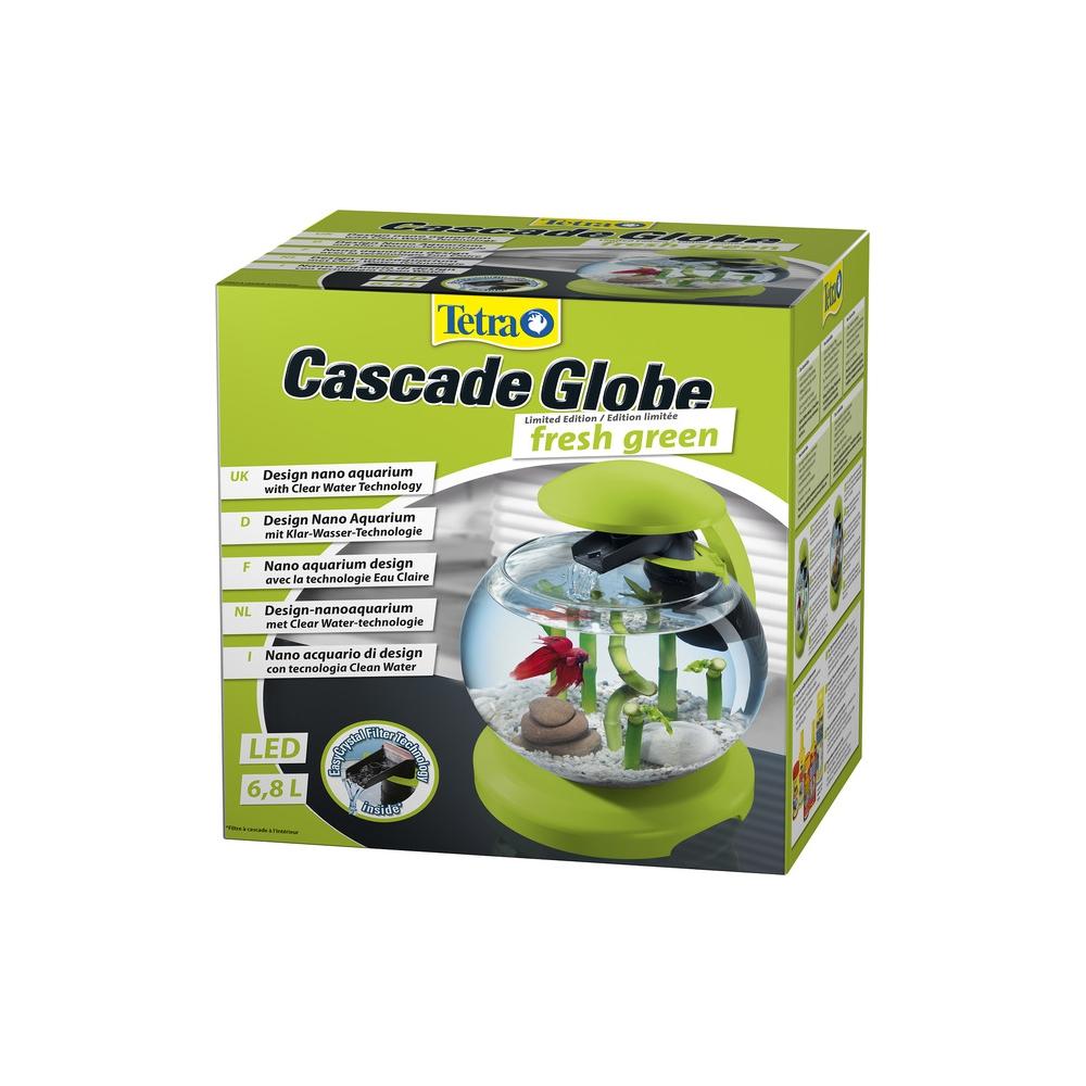 Аквариум Tetra Cascade Globe 6,8л круглый с LED светильником зеленый