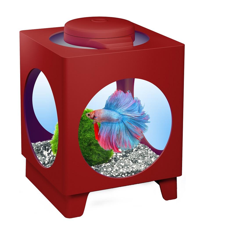 Аквариум Tetra Betta Projector 1,8л бордовый