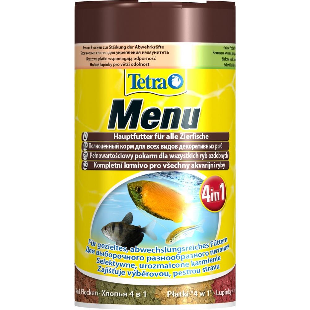 Корм для рыб TetraMenu мелкие хлопья 4вида  100мл