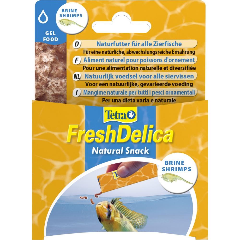 Корм для рыб Tetra FreshDelica Brine Shrimps 48г желе сушеной креветки
