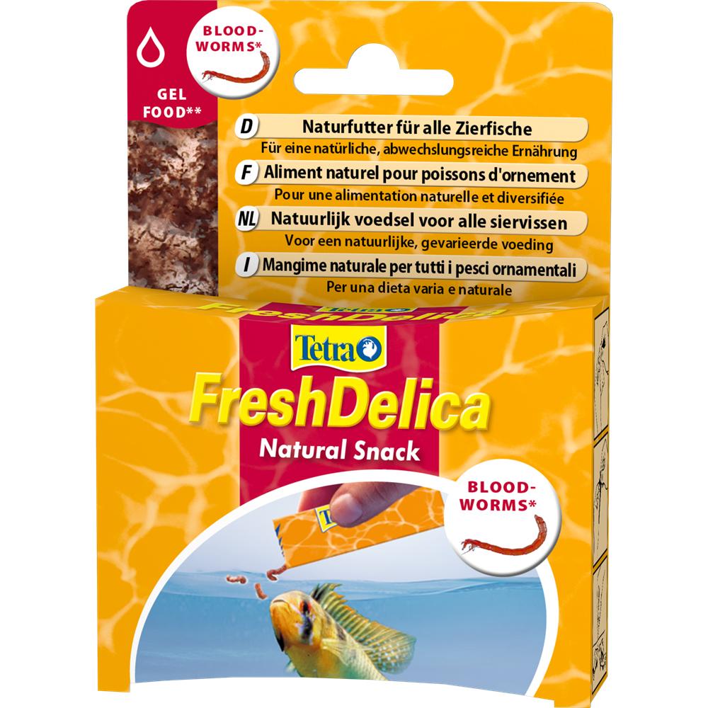 Корм для рыб Tetra FreshDelica Bloodworms 48г желе красный червь