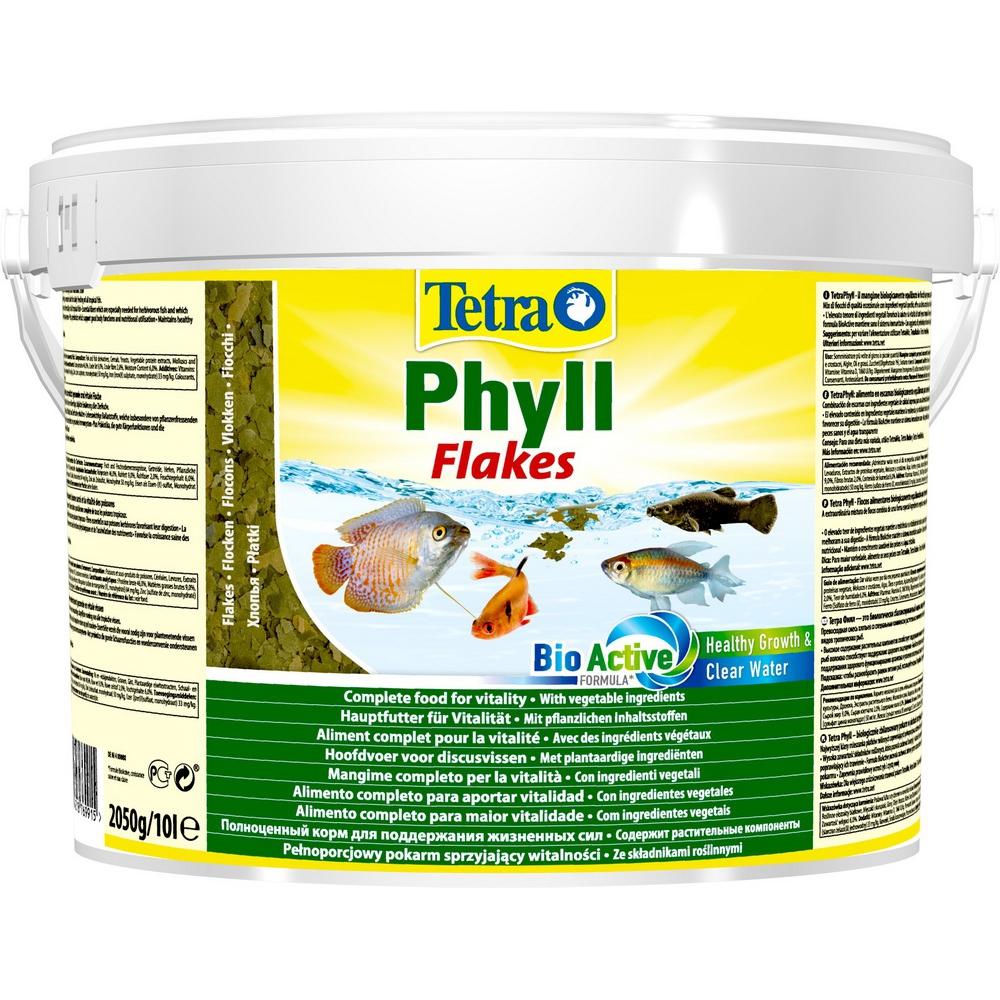 Корм для рыб TetraPhyll хлопья растительные 10л