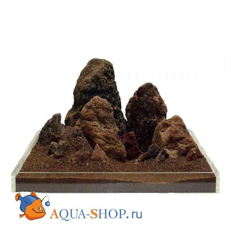 """Камень натуральный UDECO """"Лава коричневая"""", за 1 кг"""