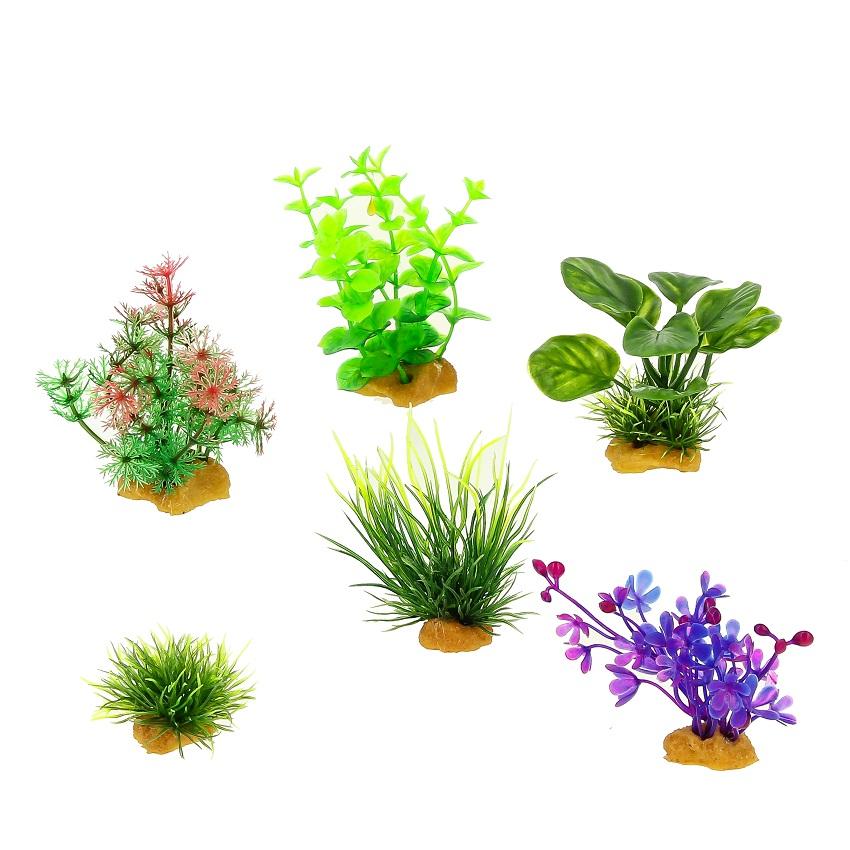 Набор пластиковых растений PRIME 6 шт 70404