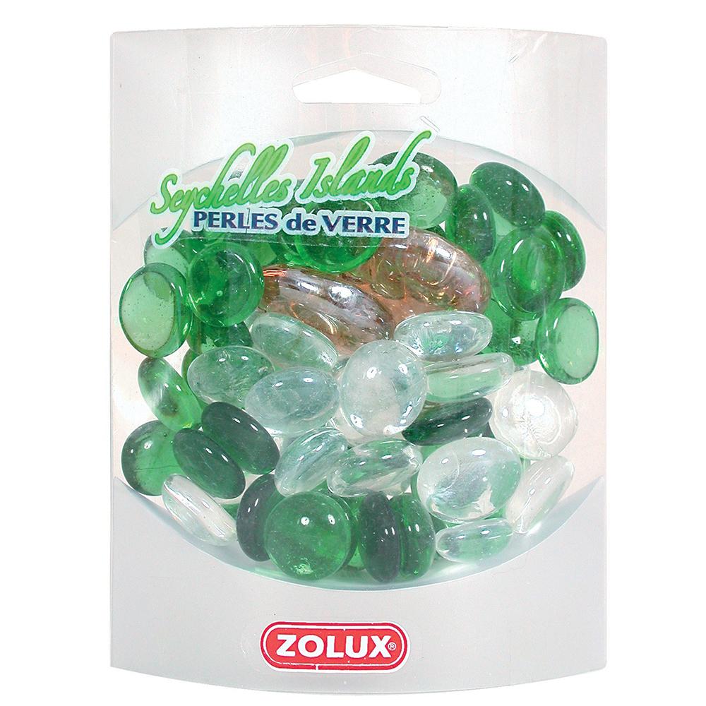 Украшения для аквариума стеклянные Zolux Сейшельские острова (зеленый, микс)