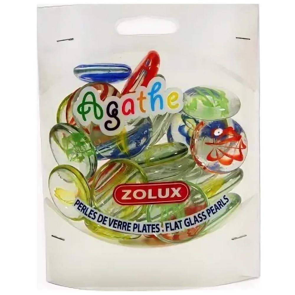Украшения для аквариума стеклянные Zolux Агат, L (мульти цвет), 430 г